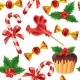 Seamless pattern of New Year sweets Royalty Free Stock Photography