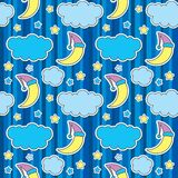 Seamless pattern with night sky Royalty Free Stock Photography