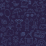 Seamless pattern night sky for baby Royalty Free Stock Photos
