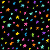 Seamless pattern with night sky Stock Image
