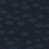 Seamless pattern of the night sky Stock Photography