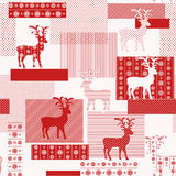 Seamless pattern with nordic reindeers Stock Photos