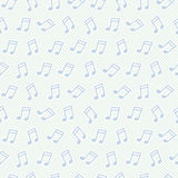 Seamless pattern with notes Stock Photo
