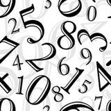 Seamless pattern - numbers Stock Photo