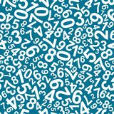 Seamless pattern with numbers Stock Photography