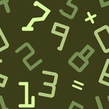 Seamless pattern with numbers Stock Image