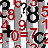 Seamless pattern with numbers Royalty Free Stock Photo