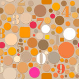 Seamless Pattern with Numbers and Circles Royalty Free Stock Photo