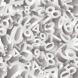 Seamless pattern numbers in 3D , vector Royalty Free Stock Images