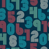 Seamless pattern of numbers Royalty Free Stock Photo
