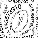 Seamless pattern of numbers on a white background. Vector illustration Stock Photo
