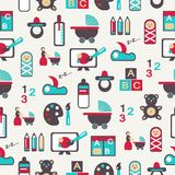 Seamless pattern with nursery equipment Royalty Free Stock Images