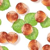 Seamless pattern with nuts Stock Images