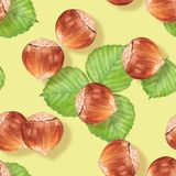 Seamless pattern with nuts Royalty Free Stock Photo