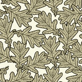 Seamless pattern from oak leaves. Seamless pattern from graphic oak leaves Stock Photo
