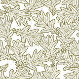 Seamless pattern from oak leaves. Seamless pattern from graphic oak leaves Stock Photos