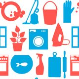 Seamless pattern with objects house cleaning Stock Photography