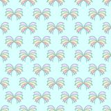 Seamless pattern Ocean butterflies. On a blue background Royalty Free Stock Image