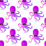 Seamless pattern with octopus Stock Images