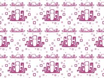 Seamless pattern with octopus Stock Photo