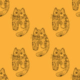 Seamless pattern od cats. Seamless pattern with cute cats, vector illustration Stock Images