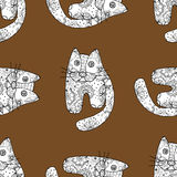 Seamless pattern od cats. Seamless pattern with cute cats, vector illustration Royalty Free Stock Photography