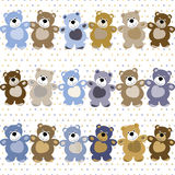 Seamless Pattern Of A Toy Teddy Bear Stock Photo