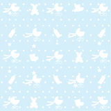 Seamless Pattern Of Baby Items. Stock Image
