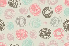 Free Seamless Pattern Of Circles In Retro Style Stock Photography - 47988002