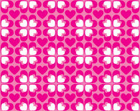 Seamless Pattern Of Hearts - Vector Image Stock Photo