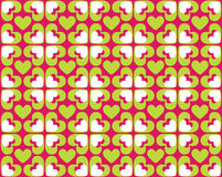Seamless Pattern Of Hearts - Vector Image Royalty Free Stock Photography