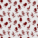 Seamless pattern of Office chairs silhouettes Stock Image