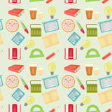 Seamless pattern with office items Royalty Free Stock Image