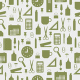 Seamless pattern with office stationery icons Stock Photos