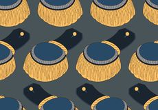 Seamless pattern with officer epaulettes Royalty Free Stock Photo