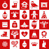 Seamless pattern og christmas decoration. Royalty Free Stock Images