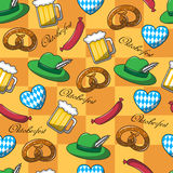 Seamless pattern on Oktoberfest Royalty Free Stock Images