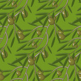 Seamless pattern with olive branches.  decorative seamless Stock Photo