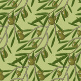 Seamless pattern with olive branches.  decorative seamless Royalty Free Stock Photography