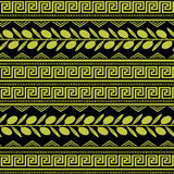 Seamless pattern with olive ornament Royalty Free Stock Photo