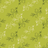 Seamless pattern olive seamless in outline style Stock Photography