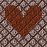 Seamless pattern with one heart stock photo