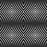 Seamless pattern in op art design. Stock Image