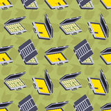Seamless pattern with the open briefcases Stock Photos