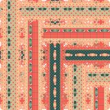 Seamless pattern of openwork embroidery tapes. Royalty Free Stock Photo
