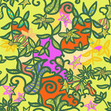 Seamless pattern an openwork green. vector illustration Stock Photography