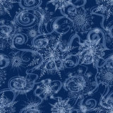 Seamless pattern of openwork snowflakes Royalty Free Stock Photos