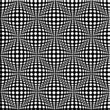 Seamless pattern with optical 3D effect. Royalty Free Stock Photo