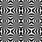 Seamless pattern with optical effect stock illustration