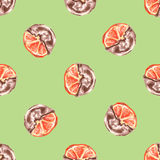 Seamless pattern Orange chocolate. Royalty Free Stock Image